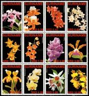 ~~~ Suriname 2007 - Flora Flowers Orchids - Mi. 2090/2101 ** MNH ~~~