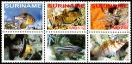 ~~~ Suriname 2008 - Fauna Fishes Marine Life  - Mi. 2229/2231 Block ** MNH ~~~ - Fishes