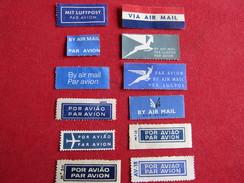 Lot De 12 Étiquettes Par Avion - By Air Mail - Autres - Europe