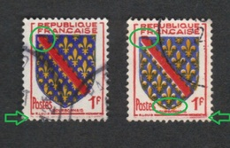 (o) 1002 BOURBONNAIS, Decalage 1 Jaune & 1 Rouge, Trainées De Rouge,Nuance De Bleus