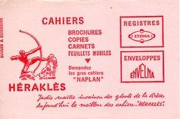 Buvard Héraklès, Brochures, Copies, Carnets, Feuilles, Enveloppes. Papeterie. - Papeterie