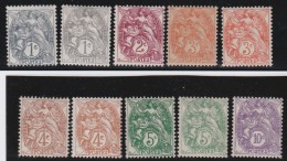 France    .     Yvert   .   10  Timbres        .        *       .       Neuf Avec Charniere   .     /    .   Mint-hinged