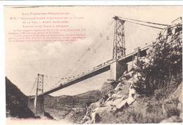 POSTAL .- PONT GISCLARD -PYRENÉES ORIENTALES - FRANCIA -NUEVA LINEA ELECTRICA DE LA VALLES DE LA TER - Roussillon