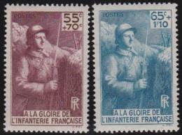 France    .     Yvert   .     386/387         .        *       .       Neuf Avec Charniere   .     /    .   Mint-hinged