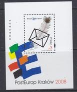 Poland 2008 Posteurop M/s ** Mnh (35027)