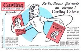 Buvard Curling, La Permanente Chez Soi. La Crème Frisante. - Parfums & Beauté