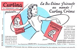 Buvard Curling, La Permanente Chez Soi. La Crème Frisante. - Parfum & Kosmetik