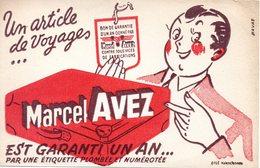 Buvard Maroquinerie Marcel Avez, Articles De Voyage. - Buvards, Protège-cahiers Illustrés