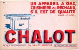 Buvard Chalot, Appareils à Gaz, Cuisinière Ou Réchaud. - Electricity & Gas