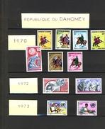 DAHOMEY  Lot 24 Timbres Neufs (sans Trace Charnière) Dont 1 Signé Créatrice P. Lambert