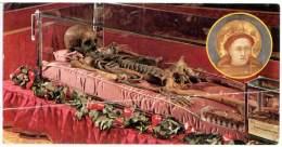 SANT'ANTONIO DA PADOVA  Santino Immagine Dello Scheletro Del Santo  Occasione Della Ricognizione Del 6-1-1981 Preghiera - Religione & Esoterismo