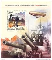 Togo 2014, 100th First War World, Zeppelin, BF