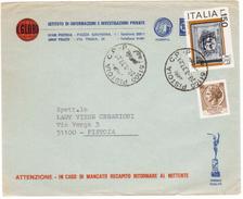 TI54    Storia Postale Pistoia  1977 Busta Pubblicitaria IL GLOBO Investigazioni Private -  In Tariffa - 1971-80: Storia Postale