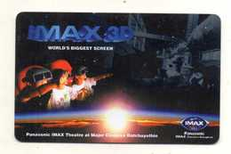 CARTE CINEMA THAILANDE  IMAX 3D  Panasonic Imax  THEATRE BANGKOK - Thaïlande