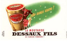 Buvard Moutarde Dessaux Fils, Orléans. - Moutardes