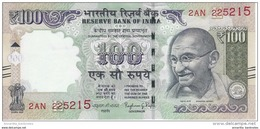 INDIA 100 RUPEES 2016 P-105 UNC SIGN. R. G. RAJAN. PLATE LETTER E [IN289h]