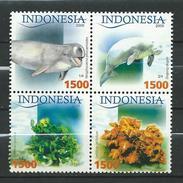 Indonesia 2005 Sea Mammals And Algae.plant Flora.fauna.MNH - Indonésie