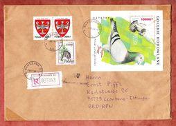 Grossbrief, Einschreiben Reco, MiF Block Taube U.a., Warszawa Nach Leonberg 1994 (35526) - Lettres & Documents