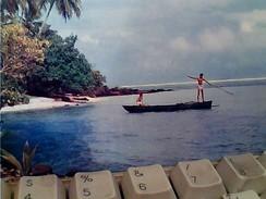 TAHITI POLYNESIE FRLagon De BORABORA 1966 STAMP TIMBRE 17 F DANCE GA12849 - Polynésie Française