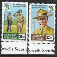 St. Vincent & Grenadines Neufs Sans Charniére, MINT NEVER HINGED, 75TH ANNIVERSARY OF SCOUTING - St.Vincent & Grenadines