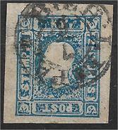 1400z8-1: Österreich 1858, ANK 16 Dunkelblau (Farbe B), ANK 925.- € - Gebraucht