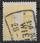 1400z8-4: Österreich 1859, ANK 10 II Schwefelgelb (Farbe F) Gestempelt, Alter ANK- Wert € 110.-