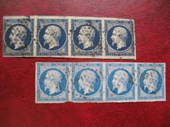 Napoleon N° 14 Bande  De 4 Bleu Et Bleu Très Foncé A Voir