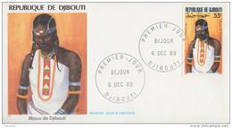 Enveloppe  FDC  1er  Jour   DJIBOUTI    Bijoux  De  DJIBOUTI   1989 - Djibouti (1977-...)