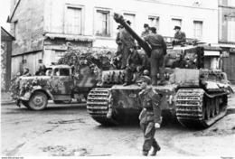 Militaria WW2  - Bourgthéroulde 26.8.44 - Tigre SS En Attente De Franchir La Seine - 1939-45