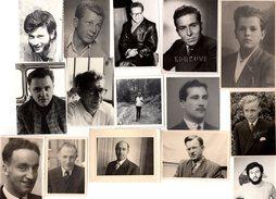 Lot De 15 Photos Originales Portrait Masculin - Playboy à Toute époque & De Tous âges ! Charme Masculin - Anonymous Persons