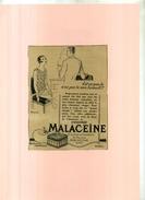 FRANCE . PUB. PARFUMERIE . POUDRE MALACEÏNE  . ANNEES 1920 . DECOUPEE ET COLLEE SUR PAPIER . - Parfums & Beauté