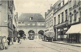 "- Nord -ref-A655 - Lille - Porte De Roubaix - Auberge De "" La Porte De Roubaix "" - Tramway - Tramways - Transports - - Lille"