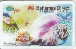 BAHAMAS ISL. - Shells, 242 New Area Code, Batelco Prepaid(account) Card, Used - Bahamas