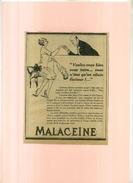 FRANCE . PUB. PARFUMERIE . CREME MALACEÏNE  . ANNEES 1920 . DECOUPEE ET COLLEE SUR PAPIER . - Parfums & Beauté