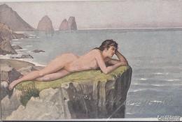 "NU_NUE_NUS_NUDE_NAKED WOMAN-NUDI ARTISTICI-""Traumerei"" S.WAGNER Pinxit-Serie N°1522 -Original D'epoca 100%- - Malerei & Gemälde"