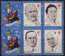 Lamplighter 1946 USA CHRISTMAS Valkenburg Hodges Bissel Rus Tuberculosis NTA Charity Label Cinderella Vignette