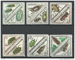 """Centrafrique Taxe YT 1 à 12 """" Coléoptères, Série Complète """" 1962 Neuf*"""