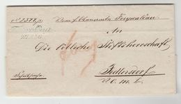 1848 AUSTRIA ENTIRE LETTER With  'JEDLERSDORF 24 AUG' & 'WIEN 25 8 4 Best' With JUDICIAL OFFICE SEAL Pre Stamps Cover El - Austria
