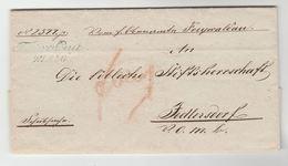 1848 AUSTRIA ENTIRE LETTER With  'JEDLERSDORF 24 AUG' & 'WIEN 25 8 4 Best' With JUDICIAL OFFICE SEAL Pre Stamps Cover El - ...-1850 Préphilatélie