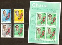 Ghana 1964 Yvertn° 167-170 Et Bloc 11 *** MNH Cote 30 FF - Ghana (1957-...)