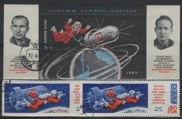 RUS 69 - RUSSIE N° 2930 D+ND + BF 37 Oblitérés Thème Espace Cosmos