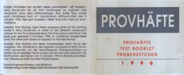 Test Booklet 1996 - Provhäfte - Carnets