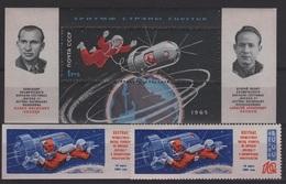 RUS 70 - RUSSIE N° 2930 D+ND + BF 37 Neufs** Thème Espace Cosmos