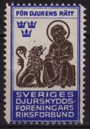 LION - For Animal Rights  / SWEDEN / Charity Stamp / Label / Cinderella / Vignette - Used