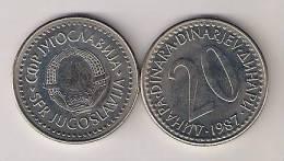 Yugoslavia 20 Dinara 1987. UNC KM112  M#61.3 - Yugoslavia