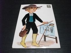 Cartolina Ricamata SPAGNA CASTANER COSTUME DI TOLEDO - Ricamate