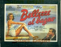 CINEMA-CARTOLINA MANIFESTO FILM-BELLEZZE AL BAGNO-RED SKELTON-ESTHER WILLIAMS-SILVANO CAMPEGGI - Manifesti Su Carta