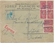 1400s: Österreich- Bedarfspost Aus Der Inflationszeit, Expressbrief Nach Erfurt