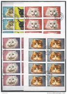 20x MANAMA - Animals - Pets - Cats - CTO - Imperf. - Full Sheets