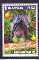 ISLE OF MAN POSTCARD RODRIGUES FRUIT BAT - Animales